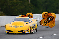 May 15, 2015; Commerce, GA, USA; NHRA pro mod driver Troy Coughlin Jr during qualifying for the Southern Nationals at Atlanta Dragway. Mandatory Credit: Mark J. Rebilas-USA TODAY Sports