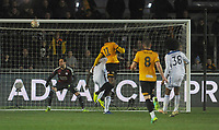 Newport County's Jamille Matt scores his side's first goal  <br /> <br /> Photographer Ian Cook/CameraSport<br /> <br /> The Emirates FA Cup Third Round - Newport County v Leicester City - Sunday 6th January 2019 - Rodney Parade - Newport<br />  <br /> World Copyright &copy; 2019 CameraSport. All rights reserved. 43 Linden Ave. Countesthorpe. Leicester. England. LE8 5PG - Tel: +44 (0) 116 277 4147 - admin@camerasport.com - www.camerasport.com
