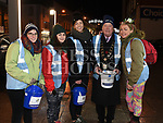 Mayor of Drogheda Frank Godfery with Benrine Bevert, Kate O'Connor, Cathy Kirk and Carol Keeley who slept out on West street to raise money for Drogheda Homeless Aid. Photo:Colin Bell/pressphotos.ie