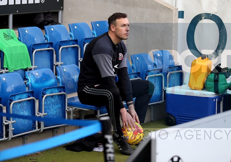 Darren Ward goal keeping coach during the English League One match at the Proact Stadium, Chesterfield. Picture date: November 13th, 2016. Pic Simon Bellis/Sportimage