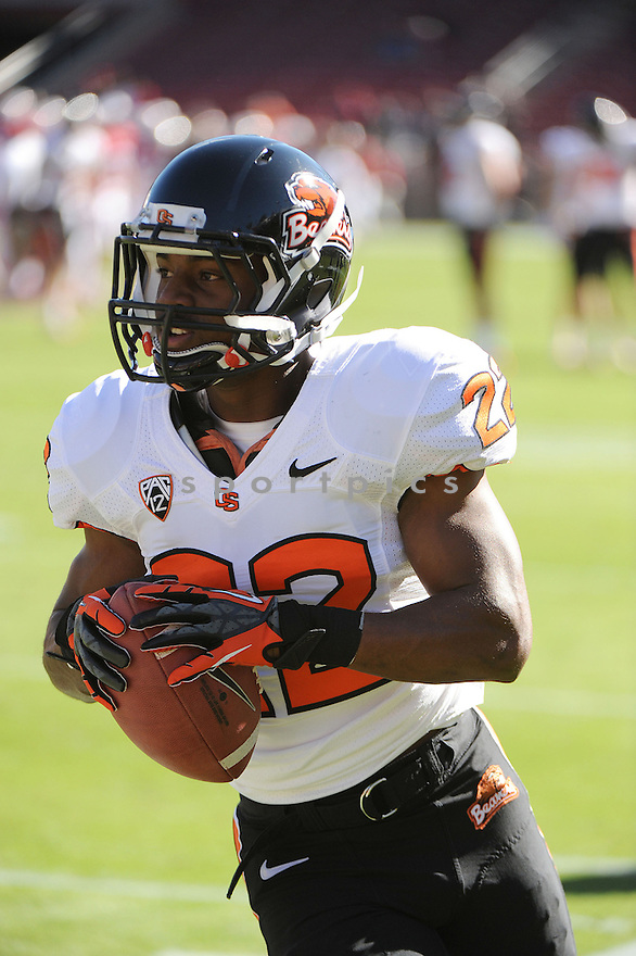 Oregon State Beavers Malcolm Marable (22) in action during a game against Stanford on November 10, 2012 at Stanford Stadium in Stanford, CA. Stanford beat Oregon State 27-23.