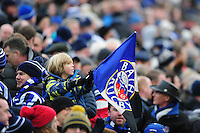 A general view of a Bath Rugby supporter in the crowd. Aviva Premiership match, between Bath Rugby and Saracens on December 3, 2016 at the Recreation Ground in Bath, England. Photo by: Patrick Khachfe / Onside Images