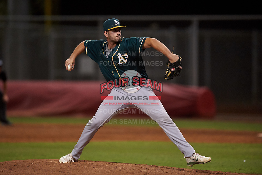 AZL Athletics Green relief pitcher Edward Baram (36) during an Arizona League game against the AZL Reds on July 21, 2019 at the Cincinnati Reds Spring Training Complex in Goodyear, Arizona. The AZL Reds defeated the AZL Athletics Green 8-6. (Zachary Lucy/Four Seam Images)