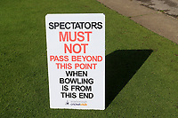 General view of Spectators Must Not Pass Beyond This Point sign ahead of Yorkshire CCC vs Essex CCC, Specsavers County Championship Division 1 Cricket at Scarborough CC, North Marine Road on 7th August 2017