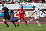 20.07.2019, Heinz Detmar Stadion, Lohne, GER, Interwetten Cup, VfL Osnabrueck vs 1. FC Koeln<br /> <br /> im Bild / picture shows <br /> <br /> Ulrich Taffertshofer (VfL Osnabrueck #08)<br /> Marco Höger / Hoeger (Koeln #06)<br /> Foto © nordphoto / Kokenge
