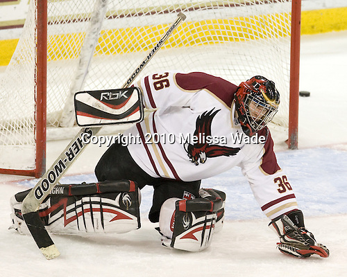 Alex Layton (BC - 36) - The Boston College Eagles defeated the Bryant University Bulldogs 2-1 on Saturday, December 11, 2010, at Conte Forum in Chestnut Hill, Massachusetts.