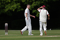 N Winter of Brentwood celebrates taking the wicket of Z Shahzad during Brentwood CC vs Wanstead and Snaresbrook CC (batting), Shepherd Neame Essex League Cricket at The Old County Ground on 11th May 2019