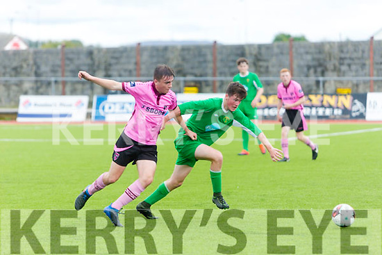 In Action at the SSE Airtricity U17 League Kerry V Wexford at Mounthawk Park on Sunday were Wexford's Derek Barrow and kerry's Sheagh O'Connor
