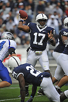 10 October 2009:  Penn State QB Daryll Clark (17) throws.  .The Penn State Nittany Lions defeated the Eastern Illinois Panthers 52-3 at Beaver Stadium in State College, PA..