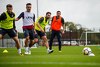 Wednesday 26 July 2017<br /> Pictured: Swans players in action during training <br /> Re: Swansea City FC Training session takes place at the Fairwood Training Ground, Swansea, Wales, UK
