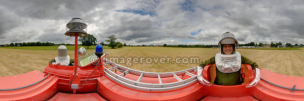 T.A.C.R.1 Fire Engine (Truck Airfield Crash Rescue). Dunsfold Collection Open Day 2009. NO RELEASES AVAILABLE. Automotive trademarks are the property of the trademark holder, authorization may be needed for some uses. --- Note: This is a digitally stitched panoramic image.