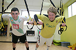 Karl Dyas and Shane Walsh of Boyne Rovers try out a TRX Class in Lab Fitness Gym, Greenhills....Photo NEWSFILE/Jenny Matthews.(Photo credit should read Jenny Matthews/NEWSFILE)....This Picture has been sent you under the condtions enclosed by:.Newsfile Ltd..The Studio,.Millmount Abbey,.Drogheda,.Co Meath..Ireland..Tel: +353(0)41-9871240.Fax: +353(0)41-9871260.GSM: +353(0)86-2500958.email: pictures@newsfile.ie.www.newsfile.ie.FTP: 193.120.102.198.