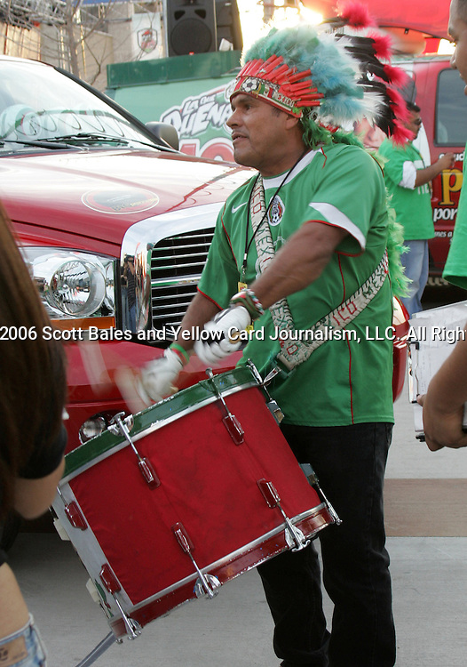 1 March 2006: A Mexican fan. The National Team of Mexico defeated the National Team of Ghana 1-0 at Pizza Hut Park in Frisco, Texas in an International Friendly soccer match.