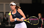 Johanna Konta (Great Britain). Rubber 1. World group II play off in the BNP Paribas Fed Cup. Copper Box arena. Queen Elizabeth Olympic Park. Stratford. London. UK. 20/04/2019. ~ MANDATORY Credit Garry Bowden/Sportinpictures - NO UNAUTHORISED USE - 07837 394578