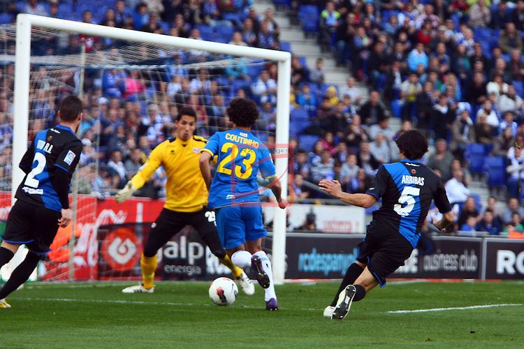 3-0: Coutinho. RCD Espanyol vs Rayo Vallecano: 5-1 - League BBVA 2011/12 - Game: 27.