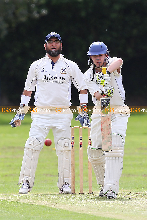 Upminster CC vs Chingford CC - Essex Cricket League Cup - 26/04/14 - MANDATORY CREDIT: Gavin Ellis/TGSPHOTO - Self billing applies where appropriate - 0845 094 6026 - contact@tgsphoto.co.uk - NO UNPAID USE