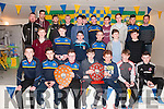 Medal Presentation : The St. Senan's U/16 players who won the North Kerry Championship & County League whio were presented with their medal by county stars Anthony Maher & David Foran at the St. Senan's Clubhouse, Mountcoal on Saturday night last.