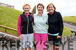 Eithne Barrett, Margot Wall and Orla Barry enjoying Lady Captain's Day at Ceann Sibéal Golf Club, Ballyferriter, on Saturday.