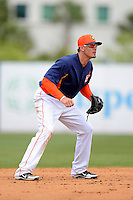 Houston Astros shortstop Tyler Greene #23 during a Spring Training game against the St. Louis Cardinals at Osceola County Stadium on March 1, 2013 in Kissimmee, Florida.  The game ended in a tie at 8-8.  (Mike Janes/Four Seam Images)
