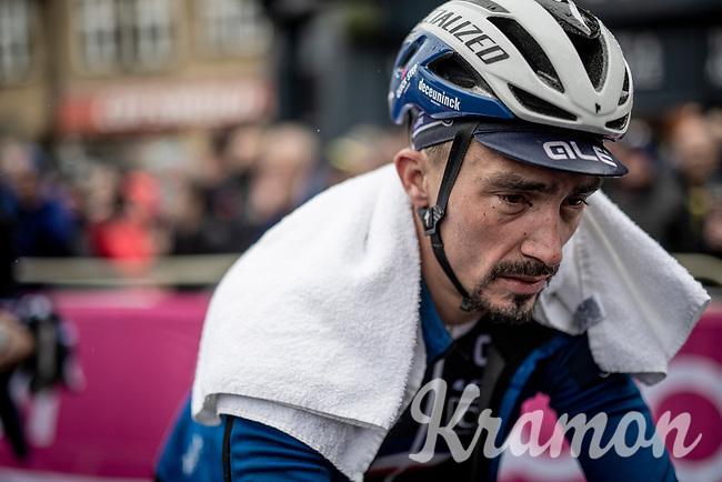 an 'old' Julian Alaphilippe (FRA/Deceuninck - QuickStep) after finishing<br /> <br /> Elite Men Road Race from Leeds to Harrogate (shortened to 262km)<br /> 2019 UCI Road World Championships Yorkshire (GBR)<br /> <br /> ©kramon