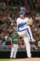 15 March 2009: #99 Hyun Jin Ryu of Korea pitches against Mexico during the 2009 World Baseball Classic Pool 1 game 2 at Petco Park in San Diego, California, USA. Korea wins 8-2 over Mexico.