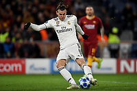 Gareth Bale of Real Madrid scores goal of 0-1 for his team <br />  during the Uefa Champions League 2018/2019 Group G football match between AS Roma and Real Madrid atOlimpico stadium , Rome, November, 27, 2018 <br />  Foto Andrea Staccioli / Insidefoto