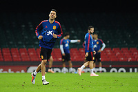 Spain's Sergio Busquets during the pre-International Friendly training session of the Spain squad at the Principality Stadium, Cardiff, UK. Wednesday 10 October 2018