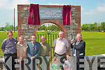 Jerome Conway Chairman of the County Board unveils the plaque to officially open Hermitage Park  GAA grounds in Lixnaw on Sunday.  ..   Copyright Kerry's Eye 2008