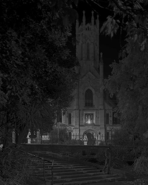 Launceston<br /> Princes Park - Statue &amp; Church<br /> 2009