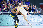 Anthony Randolph (r) and Booker during Real Madrid vs Kimhki game of Turkish Airlines Euroleague of Basketball in Madrid
