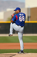 Hector Nelo  -Texas Rangers - 2009 spring training.Photo by:  Bill Mitchell/Four Seam Images