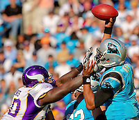 The Carolina Panthers vs. the Minnesota Vikings at Bank of America Stadium in Charlotte, North Carolina...Photos by: Patrick Schneider Photo.com