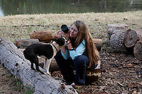 "Photographer Melissa Farlow finds a friends dog while shooting wild horses in northern California.<br /> Dianne Nelson has saved mustangs on a ranch in northern California at the Wild Horse Sanctuary.  ""It was in 1978 that the Wild Horse Sanctuary founders rounded up almost 300 wild horses for the Forest Service in Modoc County, California. Of those 300, 80 were found to be un-adoptable and were scheduled to be destroyed at a government holding facility near Tule Lake, California. The Sanctuary is located near Shingletown, California on 5,000 acres of lush lava rock-strewn mountain meadow and forest land. Black Butte is to the west and towering Mt. Lassen is to the east. ..Their goals:.Increase public awareness of the genetic, biological, and social value of America's wild horses through pack trips on the sanctuary, publications, mass media, and public outreach programs..Continue to develop a working, replicable model for the proper and responsible management of wild horses in their natural habitat..Demonstrate that wild horses can co-exist on the open range in ecological balance with many diverse species of wildlife, including black bear, bobcat, mountain lion, wild turkeys, badger, and gray fox..Collaborate with research projects in order to document the intricate and unique social structure, biology, reversible fertility control, and native intelligence of the wild horse."