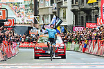 Jakob Fuglsang (DEN) Astana Pro Team wins the 105th edition of Li&egrave;ge-Bastogne-Li&egrave;ge 2019, La Doyenne, running 256km from Liege to Liege, Belgium. 28th April 2019<br /> Picture: ASO/Gautier Demouveaux | Cyclefile<br /> All photos usage must carry mandatory copyright credit (&copy; Cyclefile | ASO/Gautier Demouveaux)