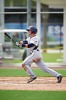 GCL Rays third baseman Michael Brosseau (6) at bat during the first game of a doubleheader against the GCL Red Sox on August 9, 2016 at JetBlue Park in Fort Myers, Florida.  GCL Rays defeated GCL Red Sox 5-4.  (Mike Janes/Four Seam Images)