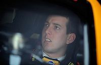 Apr 24, 2009; Talladega, AL, USA; NASCAR Sprint Cup Series driver Kyle Busch during practice for the Aarons 499 at Talladega Superspeedway. Mandatory Credit: Mark J. Rebilas-