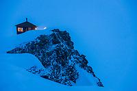 Don sheldon mountain house, ruth glacier amphitheater, Alaska Range mountains, Interior, Alaska.