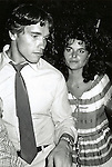 Arnold Schwarzenegger & girlfriend Maria Shriver at Studio 54 in New York City.