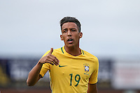 Caio Monteiro of Brazil during the International match between England U20 and Brazil U20 at the Aggborough Stadium, Kidderminster, England on 4 September 2016. Photo by Andy Rowland / PRiME Media Images.