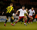 Tom Naylor of Burton Albion and Florent Cuvelier of Sheffield Utd - English League One - Sheffield Utd vs Burton Albion - Bramall Lane Stadium - Sheffield - England - 1st March 2016 - Pic Simon Bellis/Sportimage