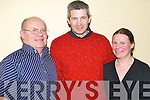 traditional: Gearing up for the Shindig Set Dancing Weekend in the Brandon Hotel, Tralee, on Saturday evening were George Raymond, David ORegan and Kathleen Raymond ORegan of Duagh..