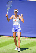 June 18th 2017, Edgbaston Priory Club; Tennis Tournament; Aegon Classic Birmingham; Sunday Qualifiers; Elizaveta Kulichkova takes the win against Petra Krejsova
