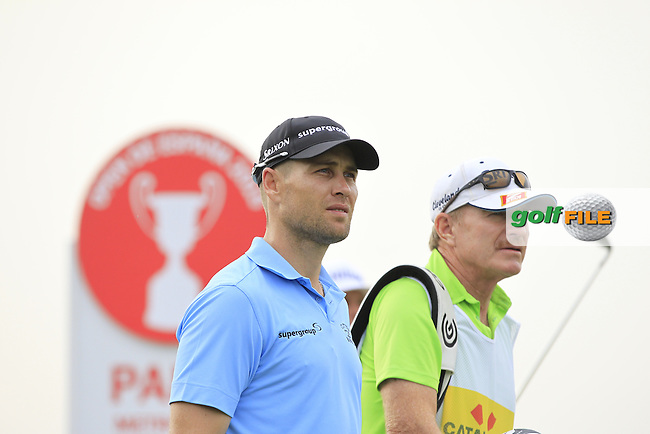 Trevor Fisher Jnr (RSA) on the 13th tee during Round 1 of the Open de Espana  in Club de Golf el Prat, Barcelona on Thursday 14th May 2015.<br /> Picture:  Thos Caffrey / www.golffile.ie
