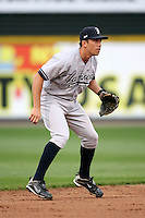 April 24, 2009:  Shortstop Doug Bernier (2) of the Scranton Wilkes-Barre Yankees, International League Class-AAA affiliate of the New York Yankees, during a game at the Frontier Field in Rochester, NY.  Photo by:  Mike Janes/Four Seam Images