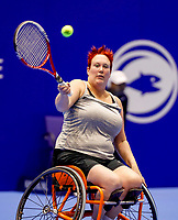 Rotterdam, Netherlands, December 13, 2017, Topsportcentrum, Ned. Loterij NK Tennis, Wheelchair, Ilse van de Burgwal (NED)<br /> Photo: Tennisimages/Henk Koster