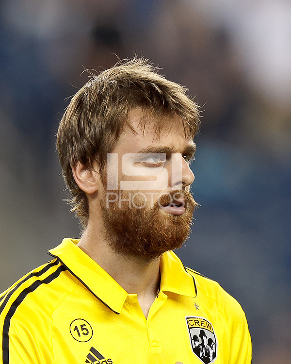 Columbus Crew forward Eddie Gaven (12). In a Major League Soccer (MLS) match, the New England Revolution defeated Columbus Crew, 2-0, at Gillette Stadium on September 5, 2012.