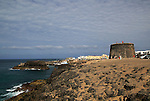 Fortified tower, Fortaleza del Toston, El Cotillo, Fuerteventura, Canary Islands, Spain