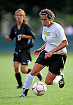 28 August 2009: University of Vermont Catamounts' forward Jessica Becker, a Junior from Woodbridge, CT, in action against the University of Montreal Carabins at Centennial Field in Burlington, Vermont. The Catamounts defeated the Carabins 3-2 in sudden death overtime. Mandatory Photo Credit: Ed Wolfstein Photo