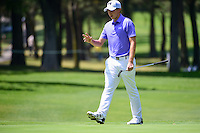 Matt Fitzpatrick (ENG) after sinking his putt on 1 during round 1 of the World Golf Championships, Mexico, Club De Golf Chapultepec, Mexico City, Mexico. 3/2/2017.<br /> Picture: Golffile | Ken Murray<br /> <br /> <br /> All photo usage must carry mandatory copyright credit (&copy; Golffile | Ken Murray)