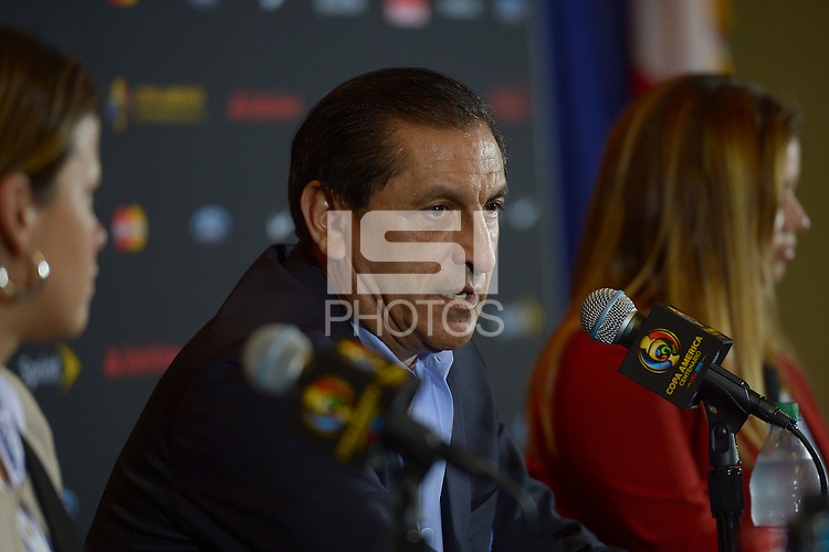 Photo during Press Conference after the match Costa Rica vs Paraguay, Corresponding Group -A- America Cup Centenary 2016, at Citrus Bowl Stadium<br /> <br /> Foto durante la Conferencia de Prensa despues del partido Estados Unidos vs Colombia, Correspondiante al Grupo -A-  de la Copa America Centenario USA 2016 en el Estadio Citrus Bowl, en la foto: Ramin Angel Diaz DT de Paraguay<br /> <br /> <br /> 04/06/2016/MEXSPORT/Isaac Ortiz.
